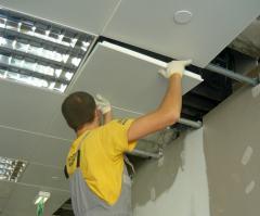 Installation of rack ceilings