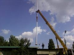 Installation of columns of communication