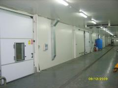 Rent of refrigerating rooms