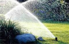 Installation of systems of watering for a garden