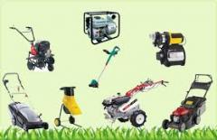 Service of the garden equipmen