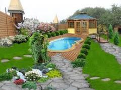 Landscape design of a garden, Chisina