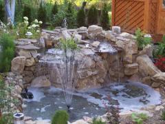 Изготовление декоративных водопадов