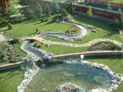 Устройство прудов, ручьев и водопадов в саду