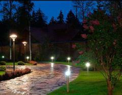 Illumination of paths in a garden
