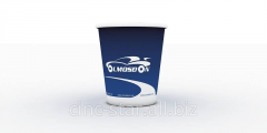 Paper cups with a logo of the company