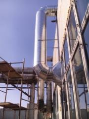 Pass of exhaust systems in the building of S.A. M