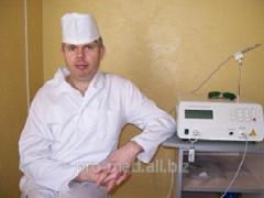 Laser treatment of hemorrhoids