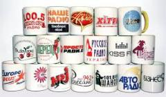 The printing of photos on cups in Chisina