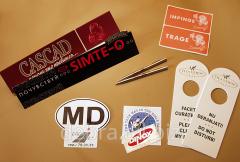 Silk-screen printing on film, plastic