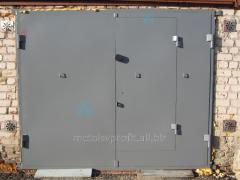 Production of metal garage gate