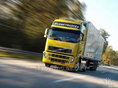 Serviços de transporte de carga, trabalhos de carregamento e descarregamento