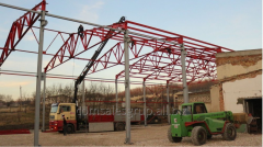 Construction of a refrigerating complex of storage