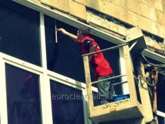 Мойка окон, витрин, фасадов