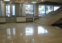 Grinding of stone floors