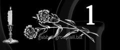 Гравировка розы, свечи, гвоздики вид 1