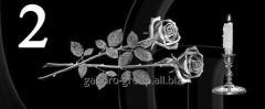 Гравировка розы, свечи, гвоздики вид 2