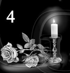 Гравировка розы, свечи, гвоздики вид 4