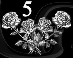 Гравировка розы, свечи, гвоздики вид 5