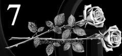 Гравировка розы, свечи, гвоздики вид 7