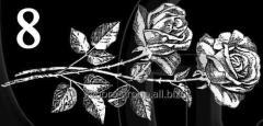 Гравировка розы, свечи, гвоздики вид 8