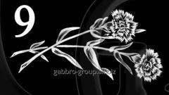 Гравировка розы, свечи, гвоздики вид 9