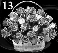 Гравировка розы, свечи, гвоздики вид 13