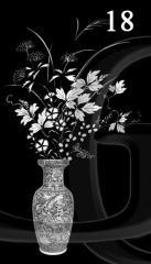 Гравировка розы, свечи, гвоздики вид 18