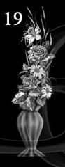 Гравировка розы, свечи, гвоздики вид 19