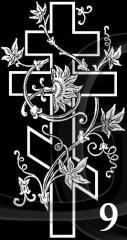 Гравировка Крест-09