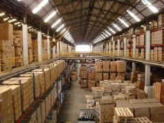 Rental of warehouses