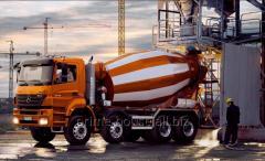 Перевозка бетона (Transportarea betonului cu aumalaxoare)