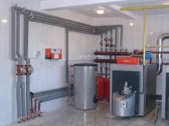 Installation of the boiler equipmen