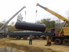 Производство стальных  резервуаров  ЖМТ.
