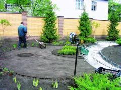 Ландшафтные работы, озеленение участка