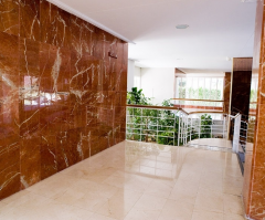Facing by marble, granite, onyx