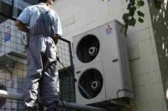 Services in installation, start-adjusting and maintenance service of the ventilating equipment