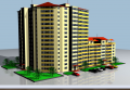 Construction of apartments on Chekanakh, Professor Ion Dumenyuk St. 4