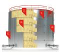 Instalarea rezervoarelor + Izolație termică